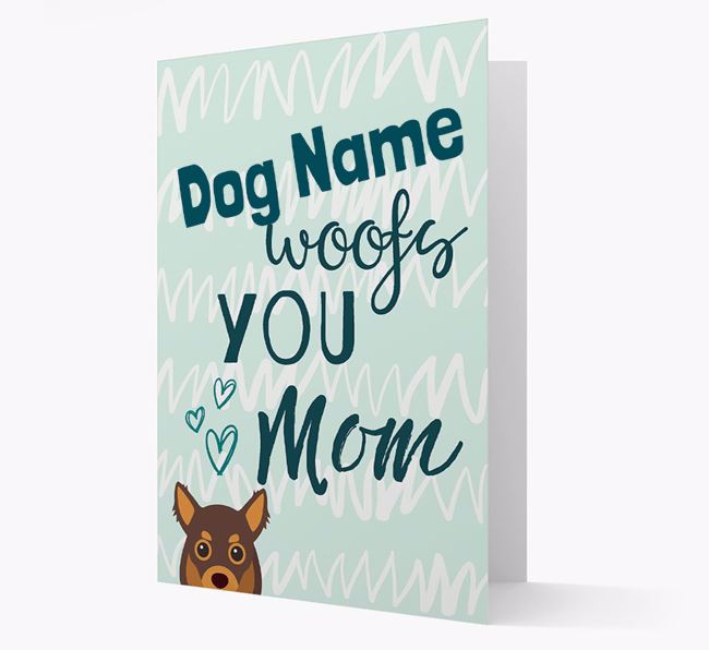 Personalized Chihuahua 'woofs you Mum' Card