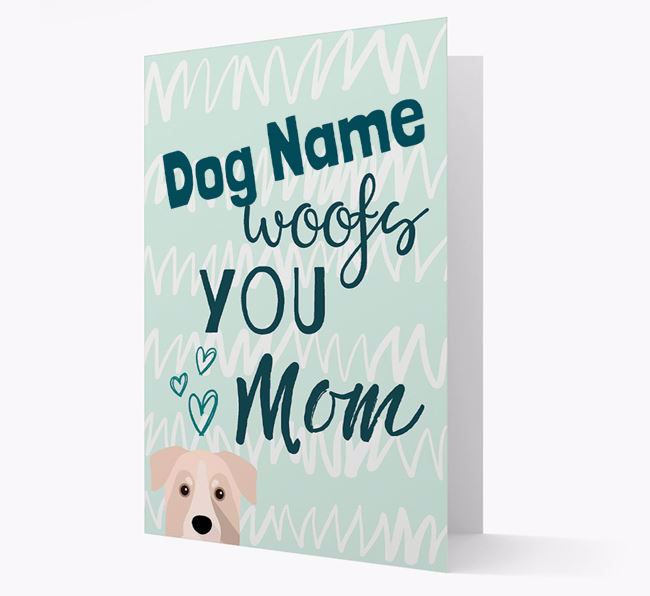 Personalized Chinook 'woofs you Mum' Card