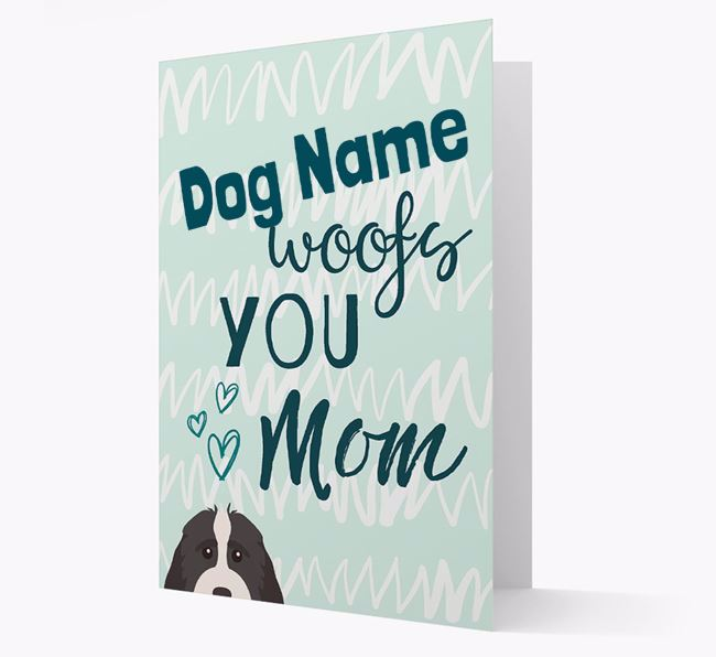 Personalized Cockapoo 'woofs you Mum' Card
