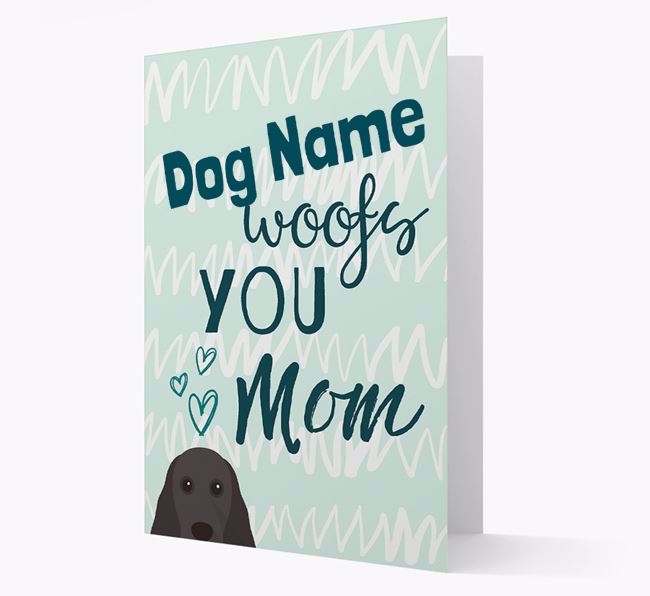 Personalized Cocker Spaniel 'woofs you Mum' Card