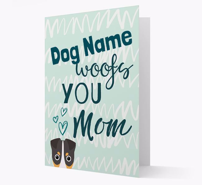 Personalized Fox Terrier 'woofs you Mum' Card