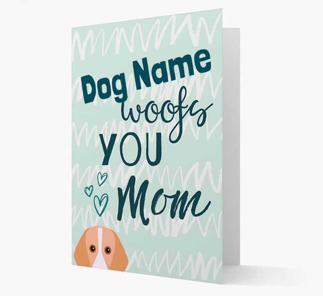 Personalized Harrier 'woofs you Mum' Card