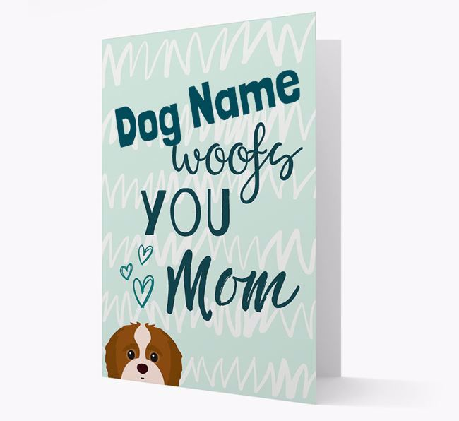 Personalized Jack-A-Poo 'woofs you Mum' Card