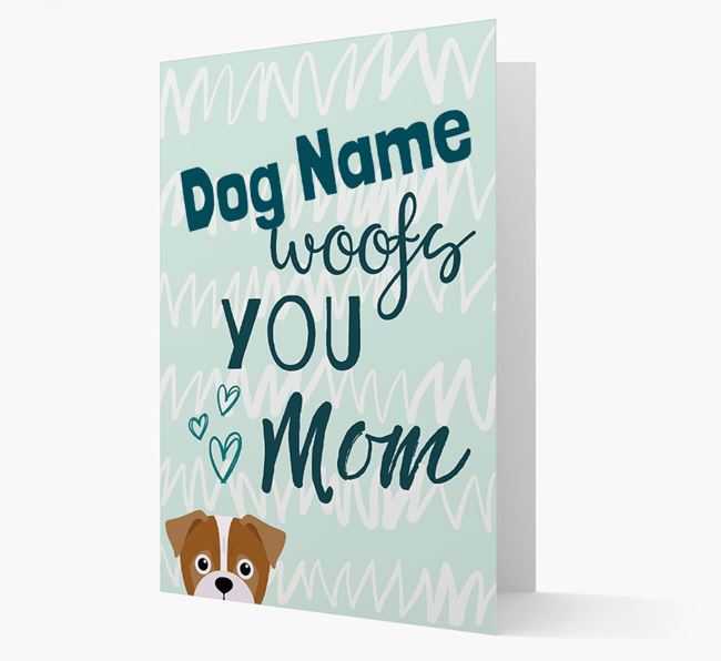 Personalized Jug 'woofs you Mum' Card