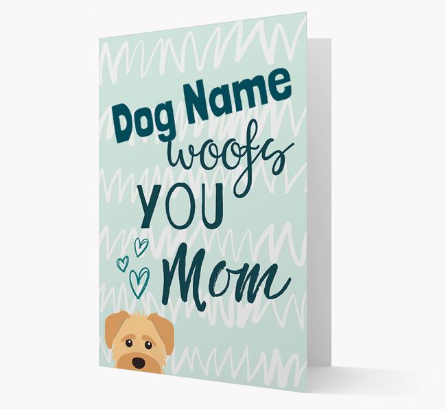 Personalized Schnoodle 'woofs you Mum' Card