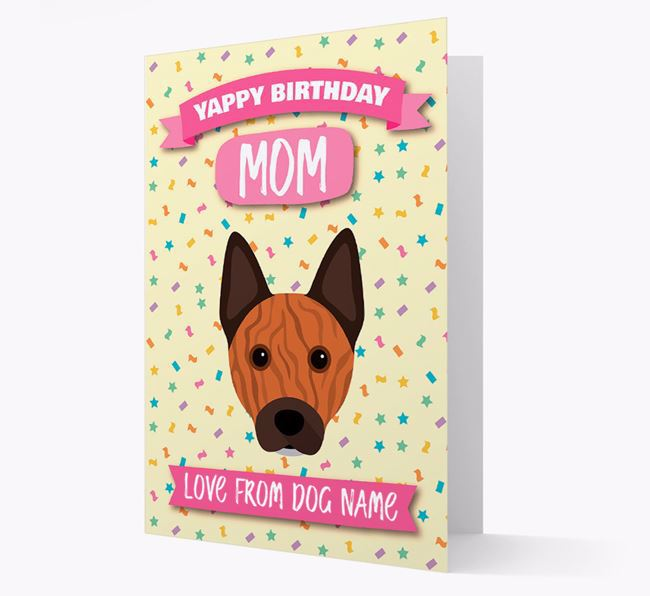 Personalized Card 'Yappy Birthday Mom' with Cattle Dog Icon