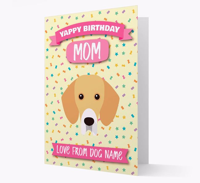 Personalized Card 'Yappy Birthday Mom' with Bassador Icon