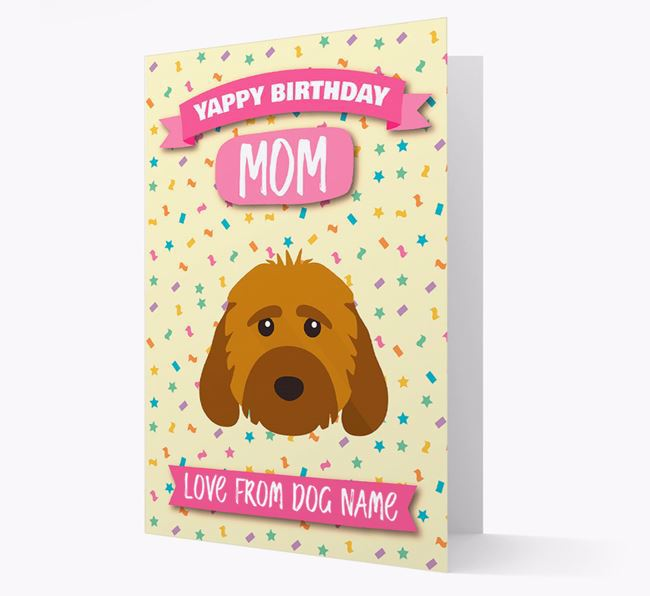 Personalized Card 'Yappy Birthday Mom' with Cockapoo Icon