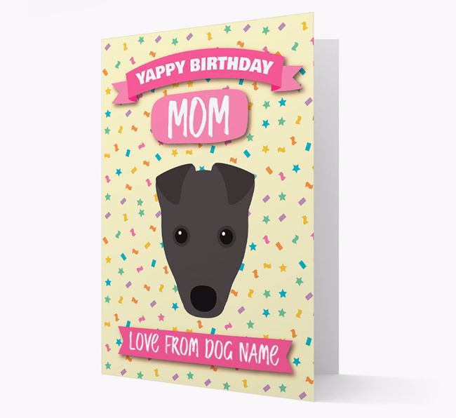 Personalized Card 'Yappy Birthday Mom' with Fox Terrier Icon