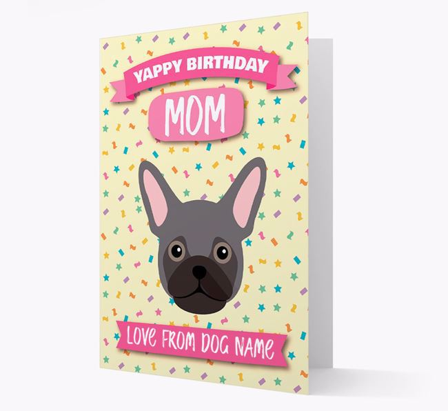 Personalized Card 'Yappy Birthday Mom' with Frug Icon