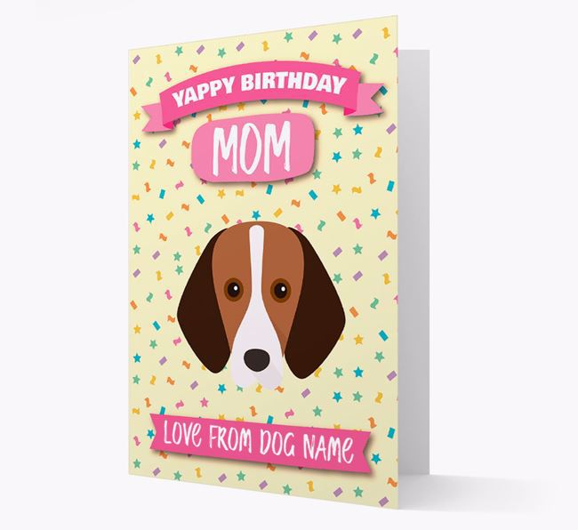 Personalized Card 'Yappy Birthday Mom' with Harrier Icon