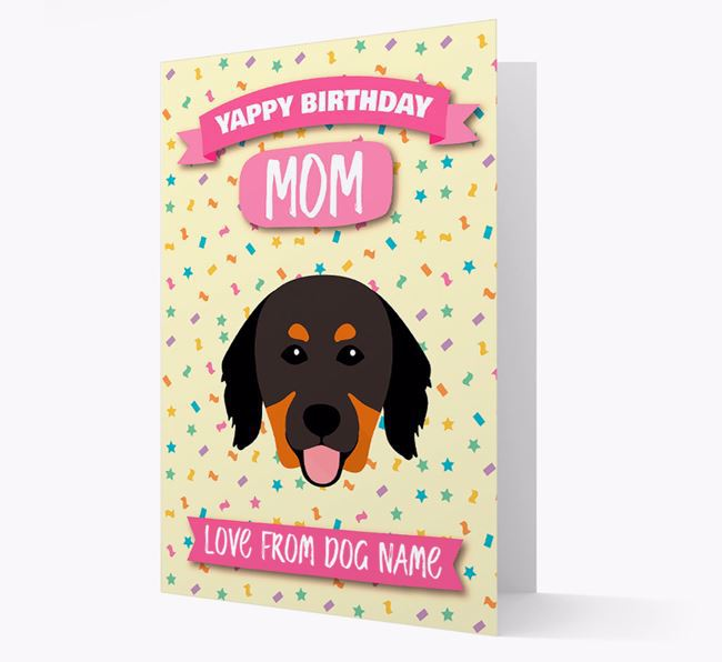 Personalized Card 'Yappy Birthday Mom' with Hovawart Icon
