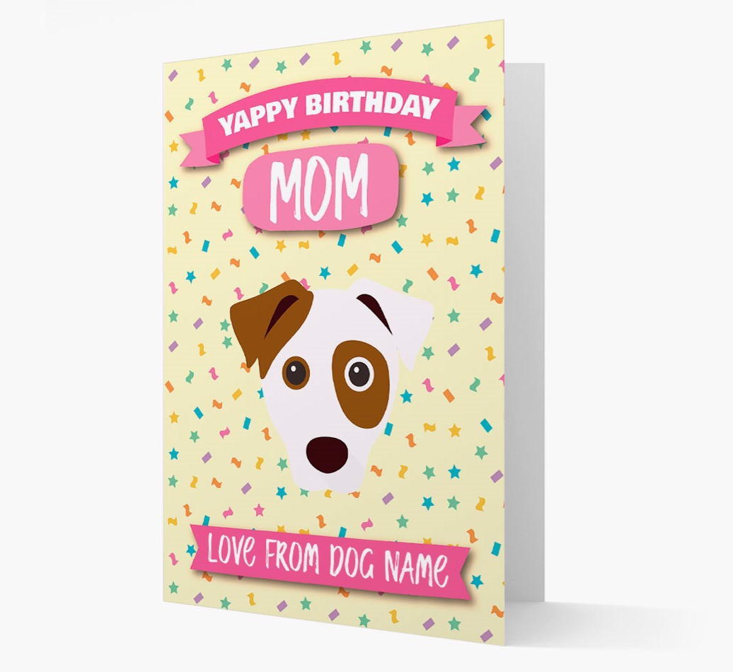 Personalized Card 'Happy Birthday Mom' with Dog Icon