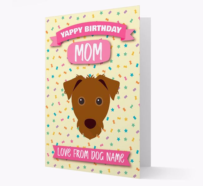 Personalized Card 'Yappy Birthday Mom' with Jack Russell Icon