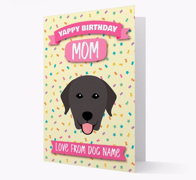 Personalized Card 'Yappy Birthday Mom' with Labrador Icon