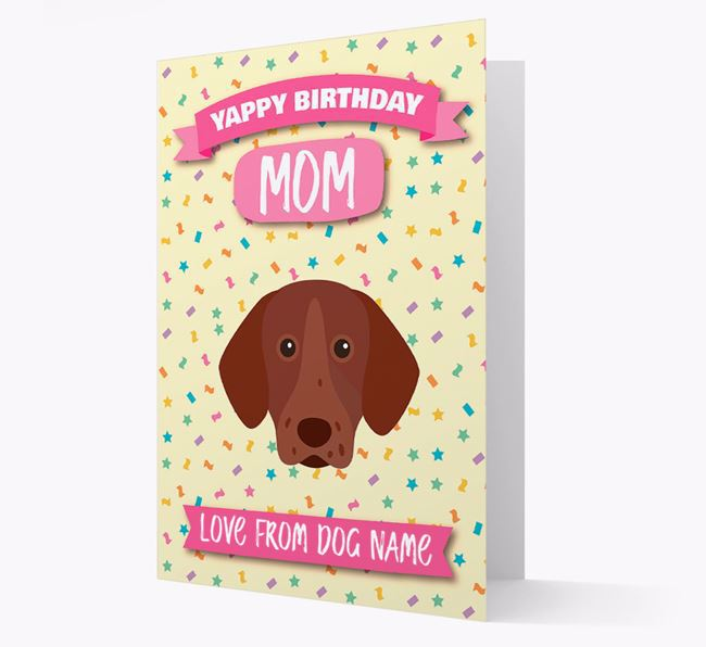 Personalized Card 'Yappy Birthday Mom' with Pointer Icon