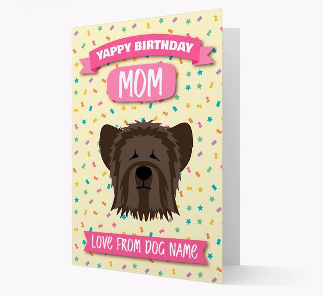 Personalized Card 'Yappy Birthday Mom' with Skye Terrier Icon