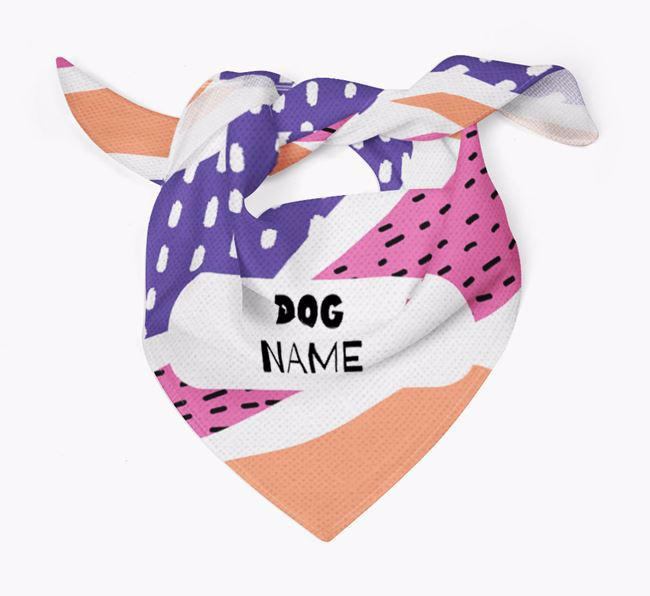 Personalized 'Abstract Dashes' Bandana for your Dog