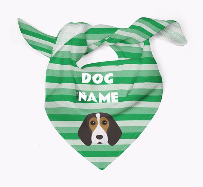 Personalised 'Stripes' Bandana for your Beagle