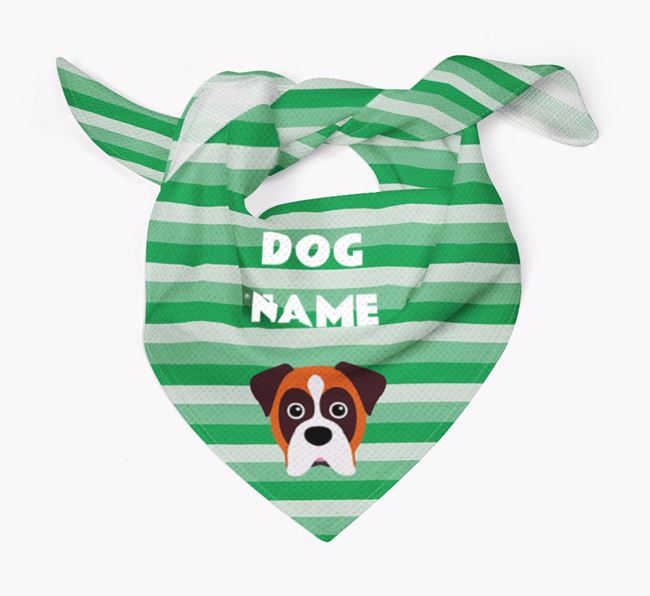 Personalized 'Stripes' Bandana for your Dog