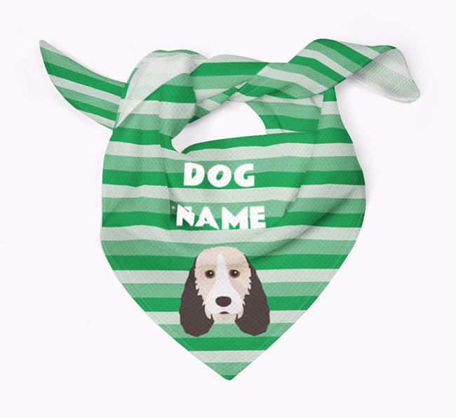 Personalised 'Stripes' Bandana for your Grand Basset Griffon Vendeen