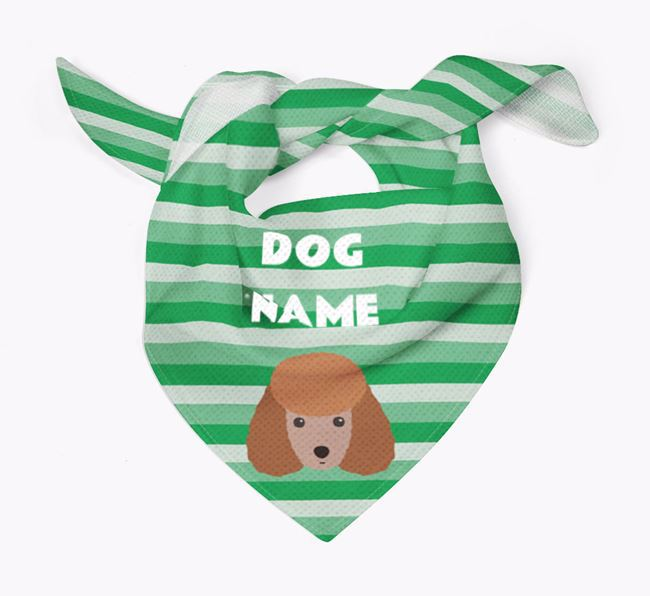 Personalised 'Stripes' Bandana for your Toy Poodle