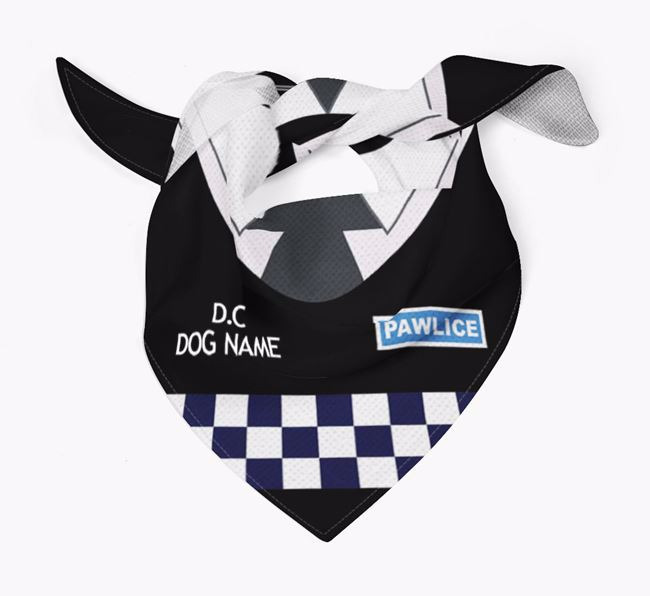 Personalised 'Paw-lice' Dog Bandana for your Black and Tan Coonhound