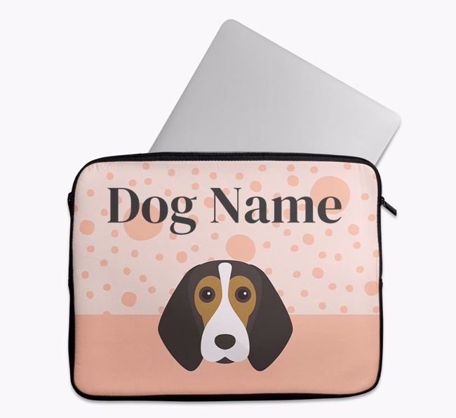 Personalised Tech Pouch with Beagle Icon