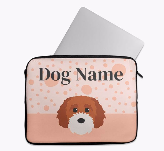 Personalised Tech Pouch with Cavapoochon Icon