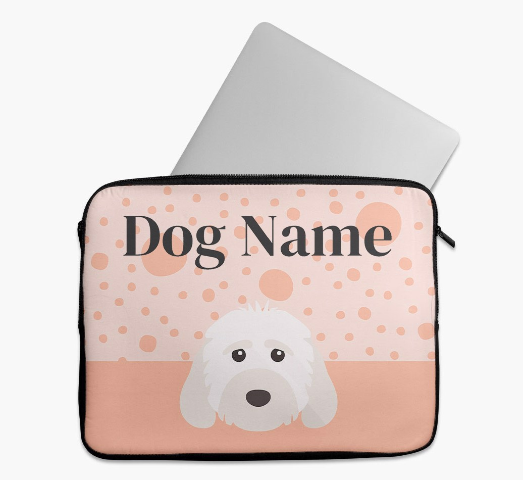 Personalised Tech Pouch with Spots and Cockapoo Yappicon