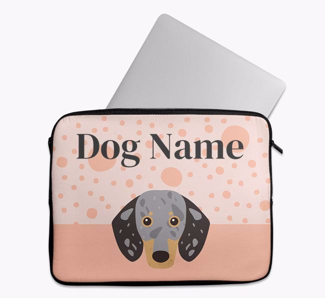 Personalised Tech Pouch with Dachshund Icon