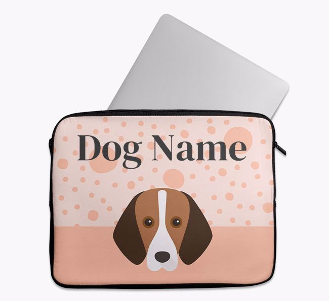 Personalised Tech Pouch with Foxhound Icon
