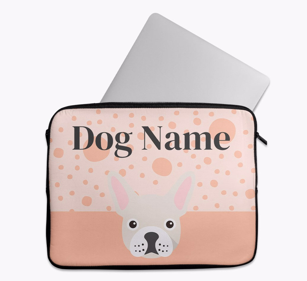 Personalised Tech Pouch with Spots and French Bulldog Yappicon