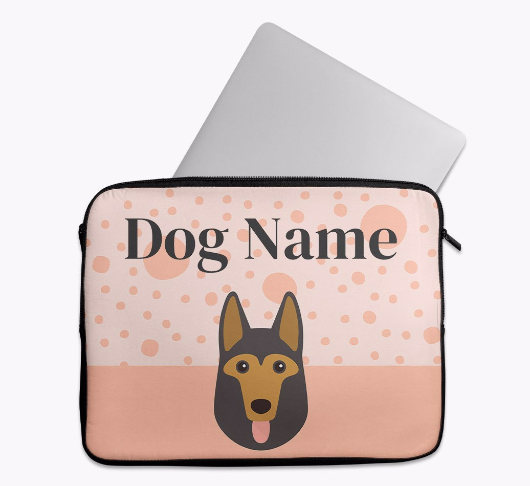 Personalised Tech Pouch with Spots and German Shepherd Yappicon
