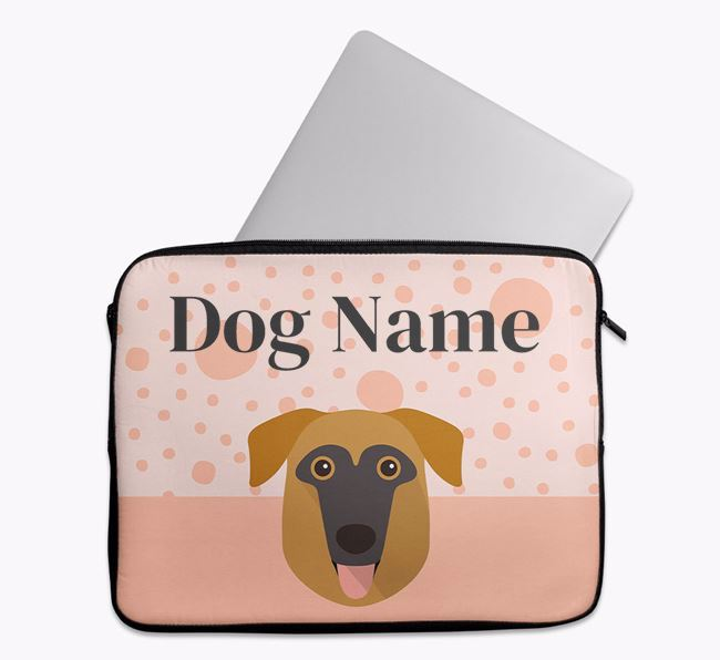 Personalised Tech Pouch with German Sheprador Icon