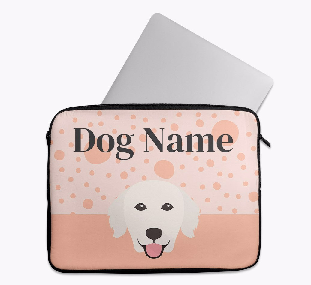 Personalised Tech Pouch with Spots and Golden Retriever Yappicon
