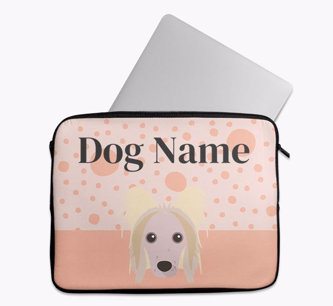 Personalised Tech Pouch with Hairless Chinese Crested Icon