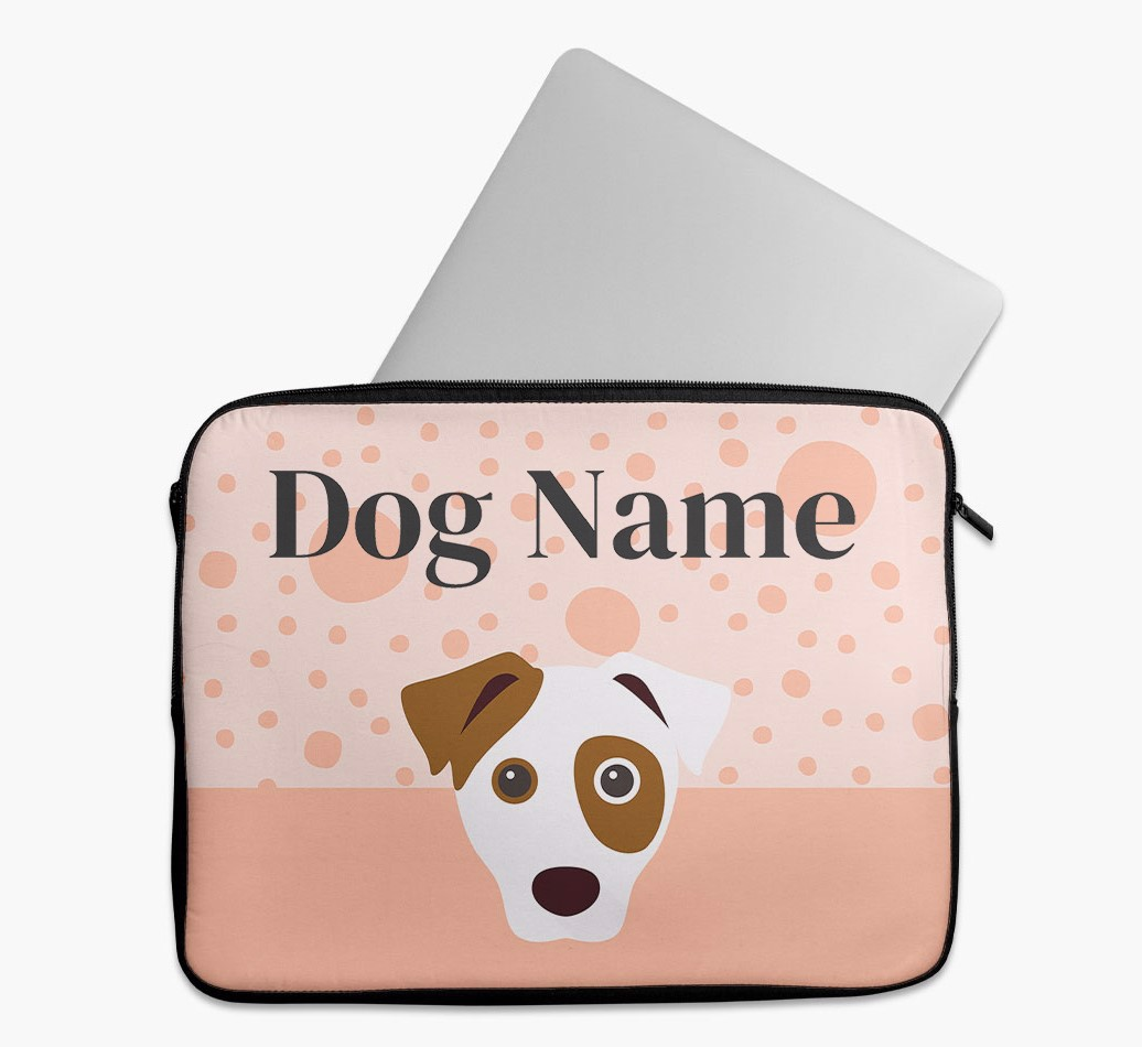 Personalised Tech Pouch with Spots and Dog Yappicon