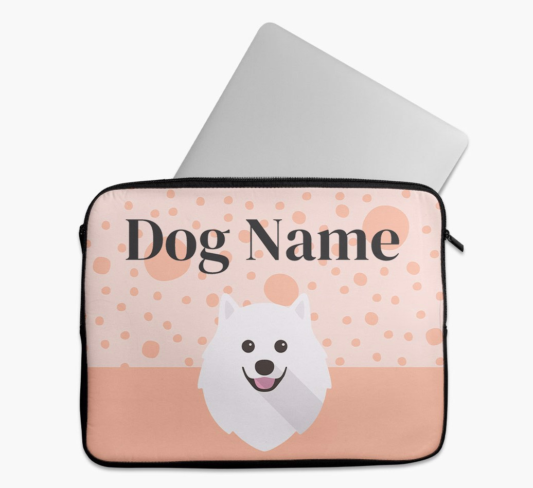 Personalised Tech Pouch with Spots and Pomeranian Yappicon
