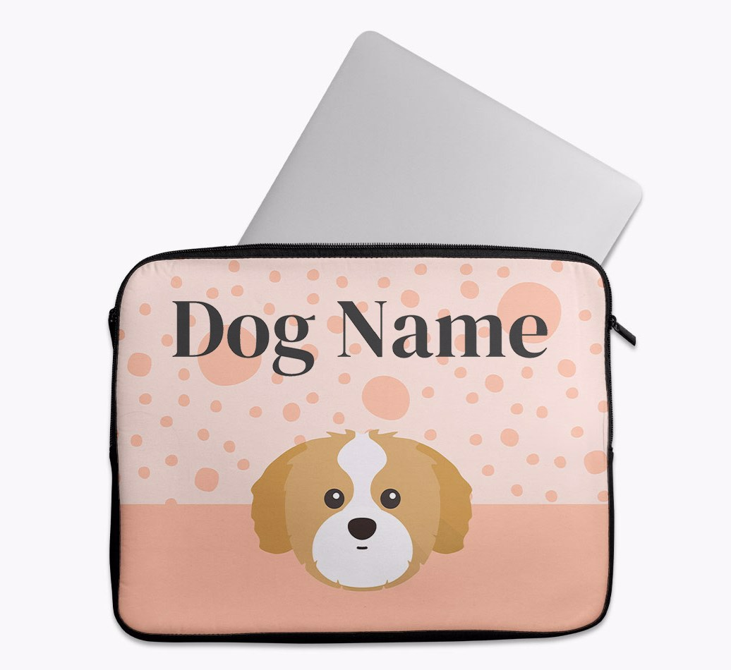 Personalised Tech Pouch with Spots and Shih Tzu Yappicon