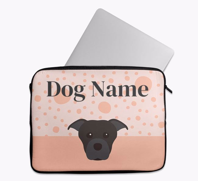 Personalised Tech Pouch with Dog Icon