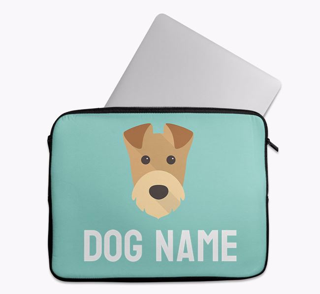 Personalised Bright & Bold Tech Pouch with Airedale Terrier Icon