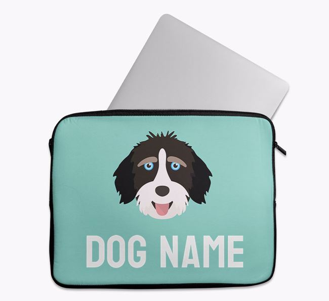 Personalised Bright & Bold Tech Pouch with Aussiedoodle Icon