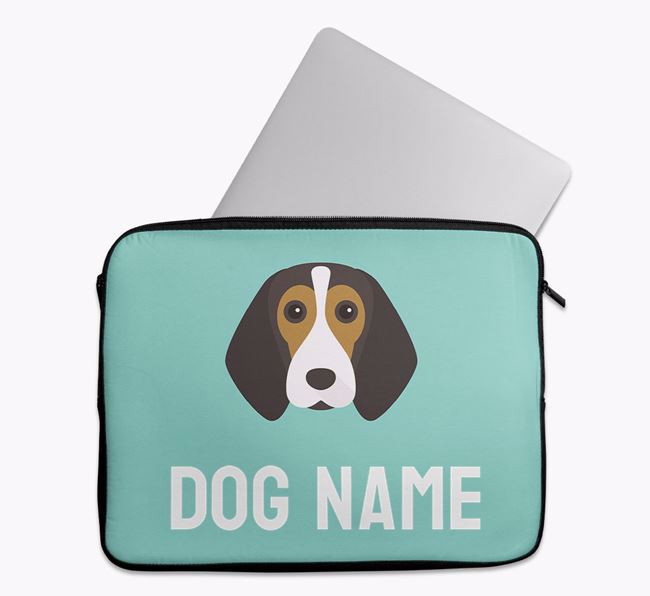 Personalised Bright & Bold Tech Pouch with Beagle Icon