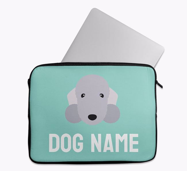 Personalised Bright & Bold Tech Pouch with Bedlington Terrier Icon