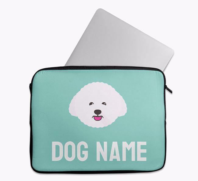 Personalised Bright & Bold Tech Pouch with Bichon Frise Icon