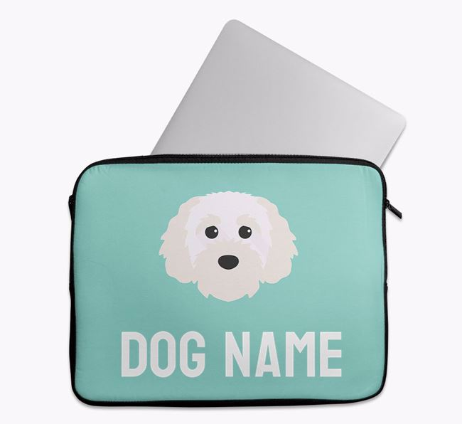 Personalised Bright & Bold Tech Pouch with Cavapoochon Icon