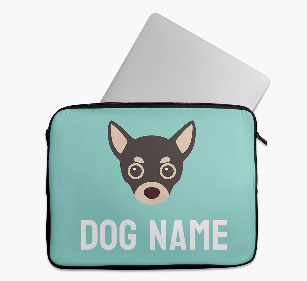 Personalised Tech Pouch Bright & Bold with Chihuahua Yappicon