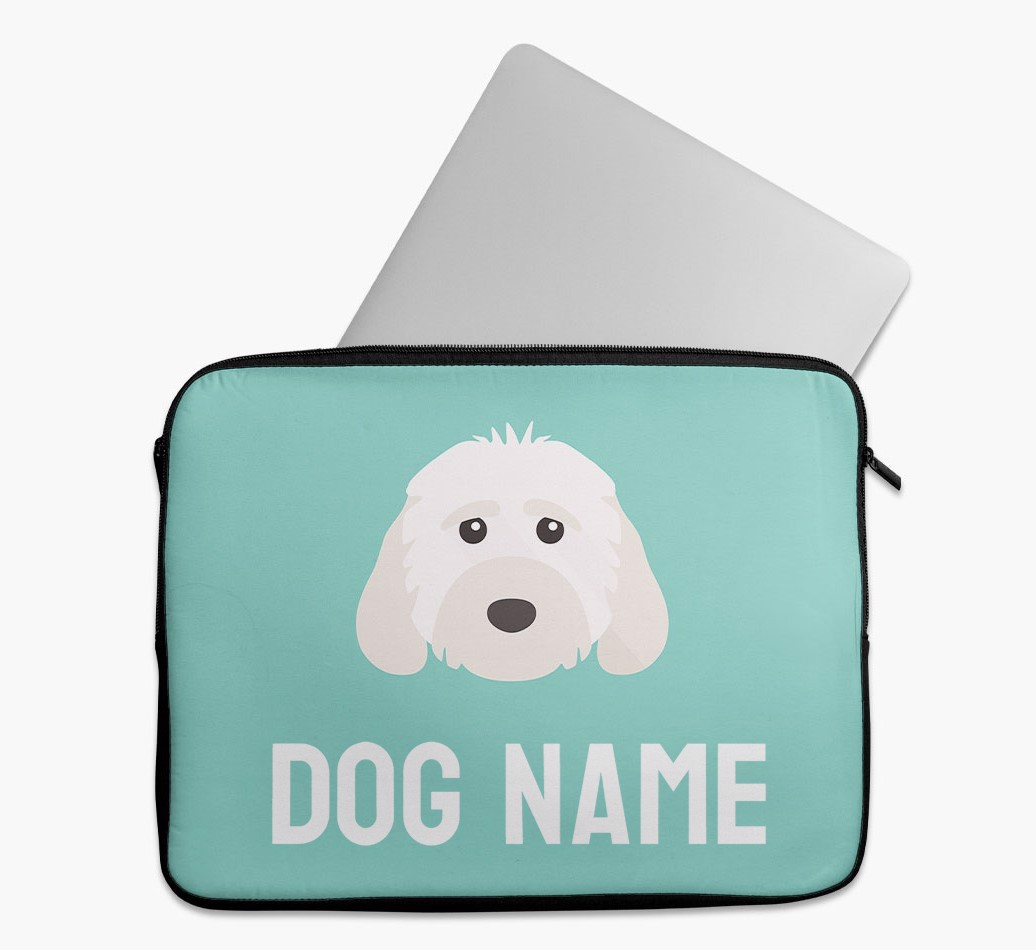 Personalised Tech Pouch Bright & Bold with Cockapoo Yappicon