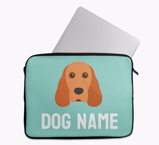 Personalised Bright & Bold Tech Pouch with Cocker Spaniel Icon
